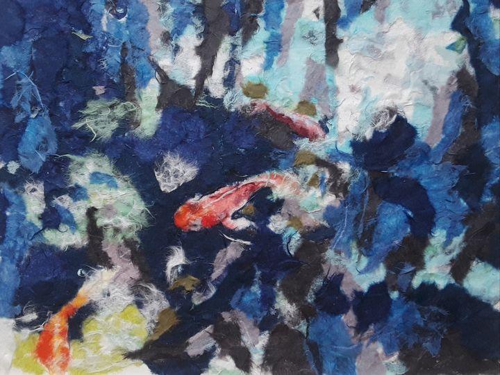 Coy fish in Washi paper - Birdsandmulberries