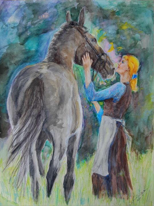 Cinderella and her horse - Birdsandmulberries