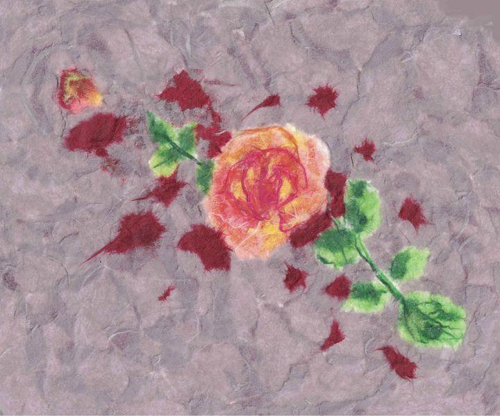 Chigirie rose -- close up - Birdsandmulberries