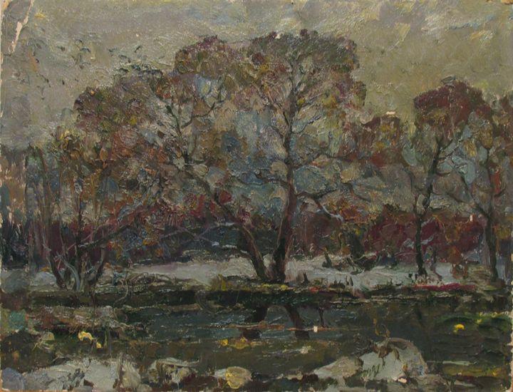 Thaw in the forest - Vasily Belikov's Art