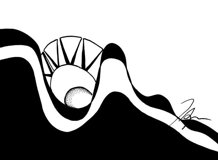 Black Diamond Sun - Tamara Spence Art