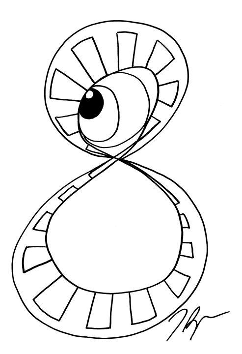 Infinity eye - Tamara Spence Art