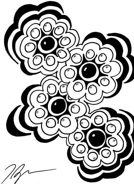 Four Flowers - Tamara Spence Art