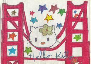 golden gate hello kitty