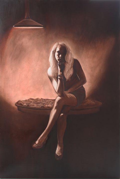 """Untitled"" , Noir Series - Jenna Rice, Fine Artist"