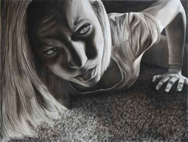 """Untitled"" Noir Series - Jenna Rice, Fine Artist"