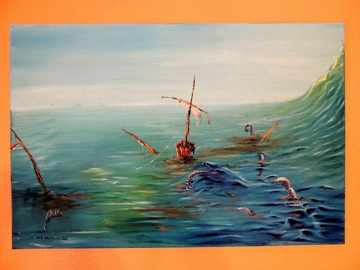Sunken Deluxe ORIGINAL OIL ON CANVAS - JSWillis