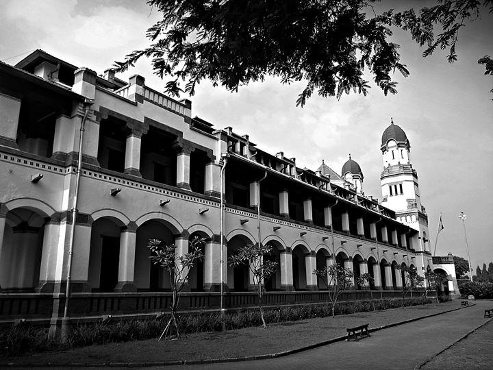 Lawang Sewu old building in mystic - tupaiterbang