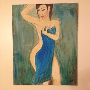 Lady with Blue Towel