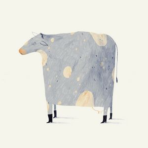 Cow with boots