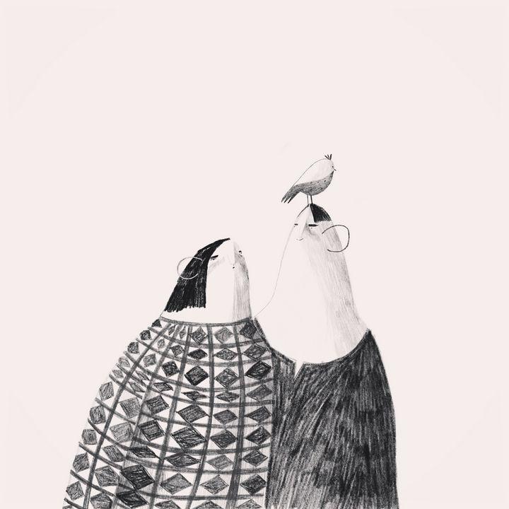 Bird on a head - Trudeiskrude
