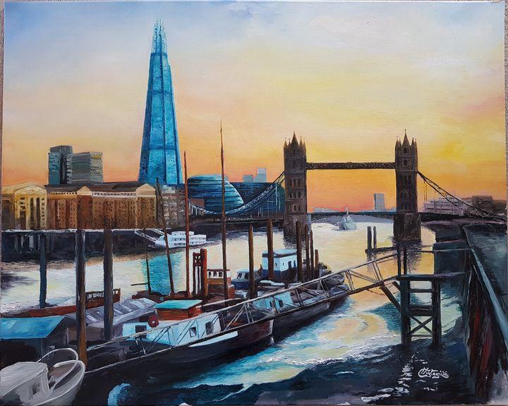 sunset on the Thames - NataleCastagna