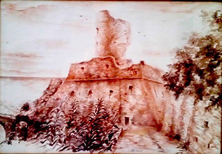 Castle of Paola- watercolor-70x50cm - NataleCastagna