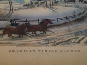 American Winter Scenes Evening