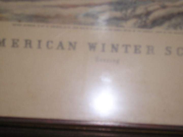 "American Winter Scenes ""Evening"" - Inherited Early Art"