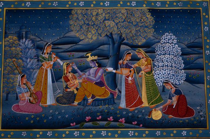 Lord Krishna with Gopis - Art Fair Gallery, Jaipur