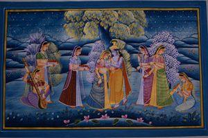 Lord Krishna with Gopikas