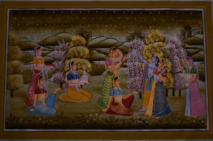 Lord Krishna with Gopikas - Art Fair Gallery, Jaipur