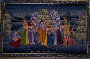 Lord Krishna with Gopikas