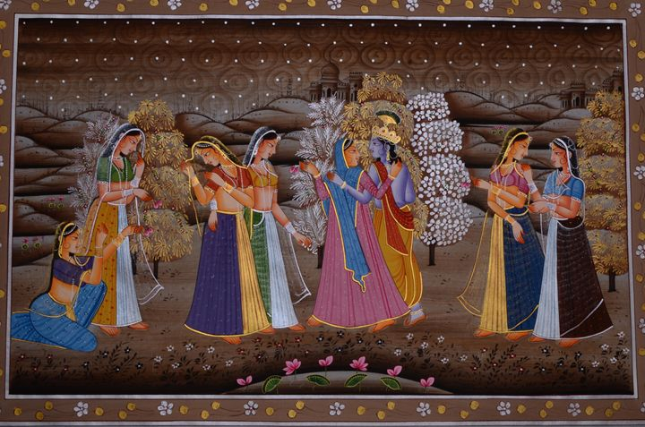 Lord Krishna with Gopikas - Art Fair Gallery, Jaipur