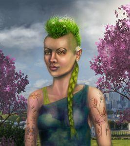 Spring punk girl