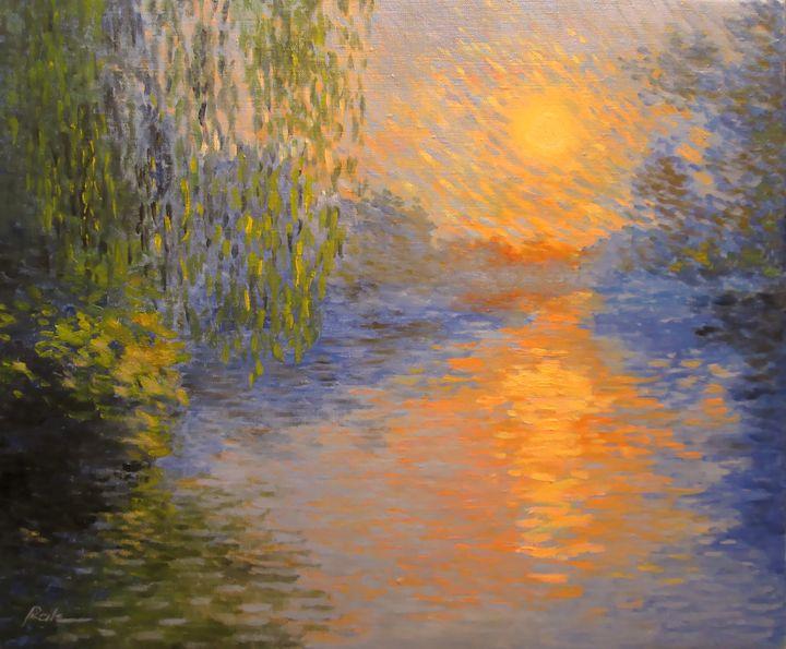 Sunset on the river - Oleh Rak