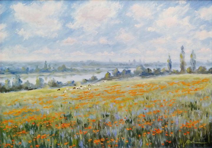 At the edge of the poppy field - Oleh Rak