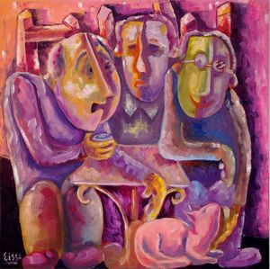Men in the coffee shop
