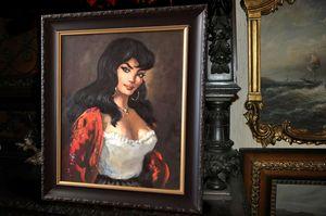 Tablou pictat in ulei Spanish girl