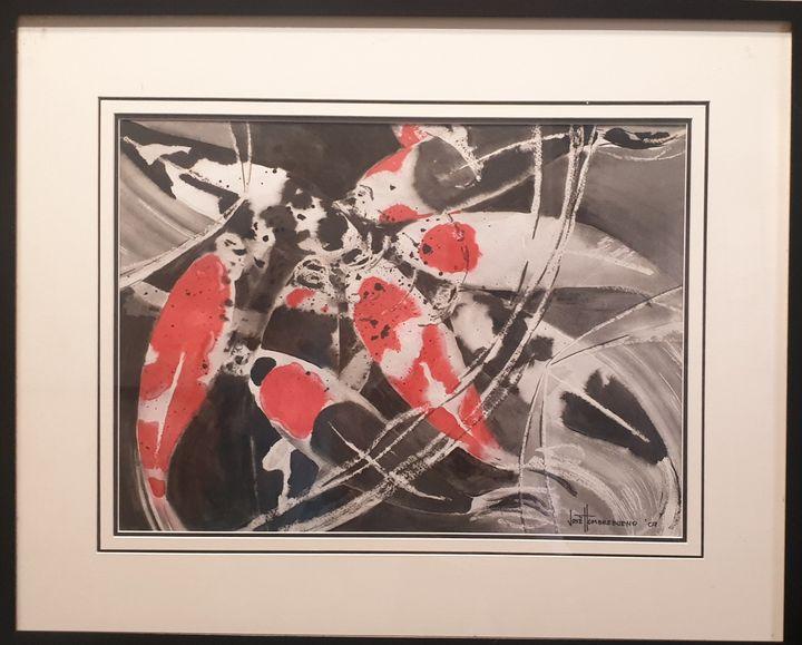 Japanese Koi by Jose Hombrebueno - Art Frederick