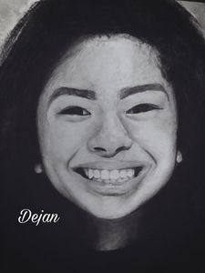 Realistic Drawing of Gianna Bryant