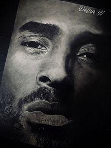 Realistic Drawing of Kobe Bryant