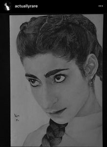 Alba Flores Realistic Drawing