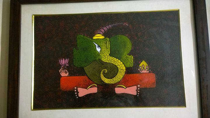 Modern Ganesha with texture - Srikalpameya