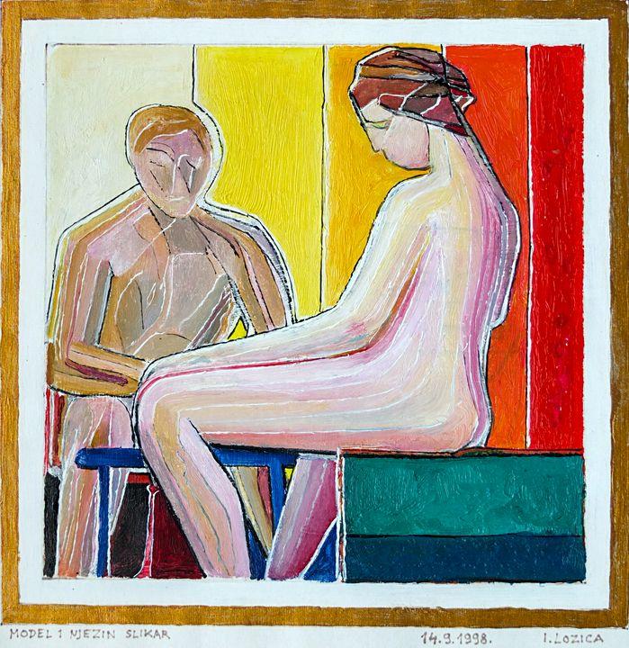 MODEL AND HER PAINTER - Ivan Lozica