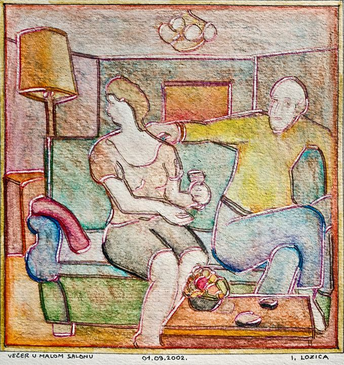 EVENING IN A SMALL DRAWING ROOM - Ivan Lozica