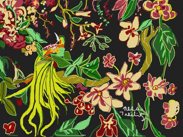 Flowers and Birds - Nesa's Art