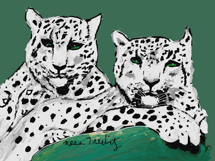 Snow Leopards - Nesa's Art