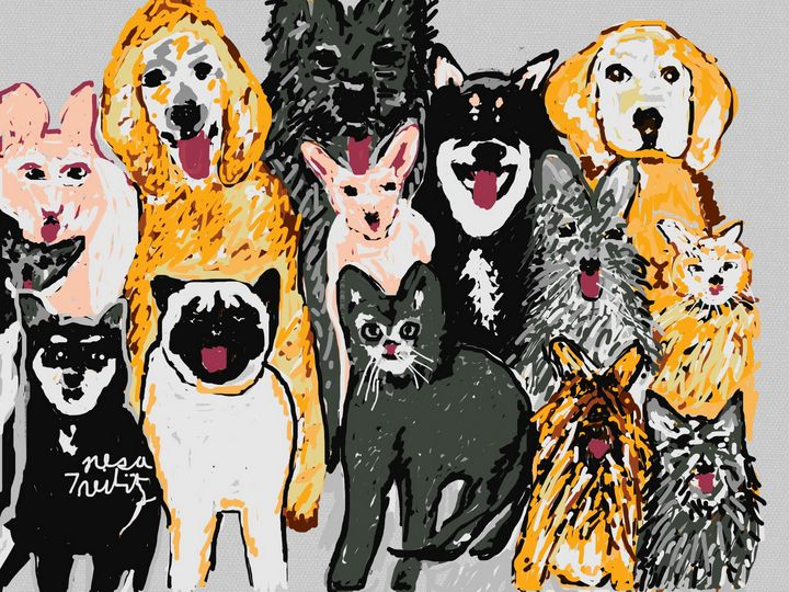 It's Reigning Cats and Dogs - Nesa's Art