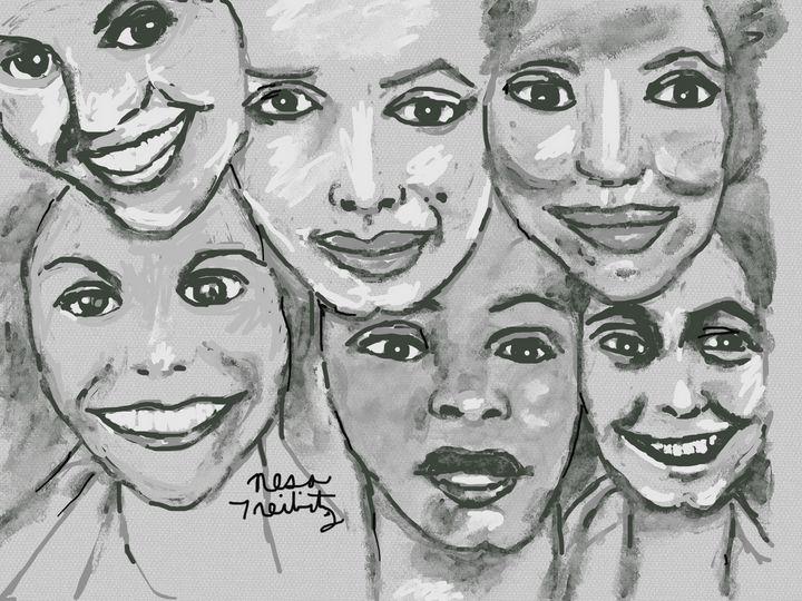 Six Stunning Women - Nesa's Art