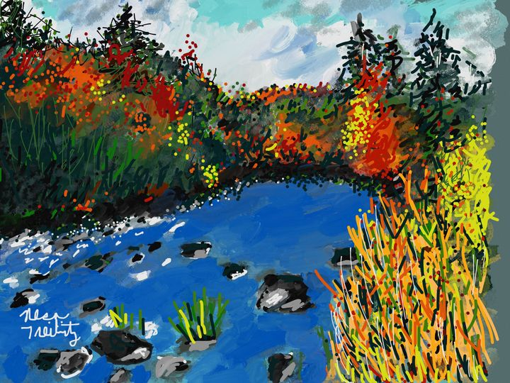 Never sink River the Catskills - Nesa's Art