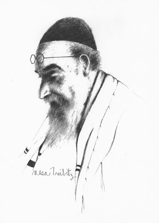 Rabbi  Praying - Nesa's Art