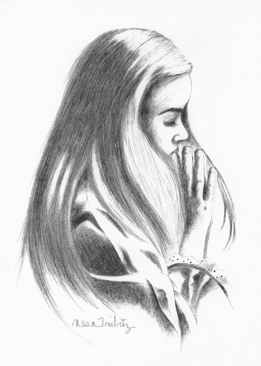 Girl Praying - Nesa's Art