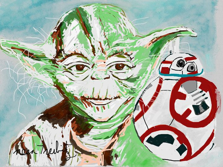 Yoda and BB8 - Nesa's Art