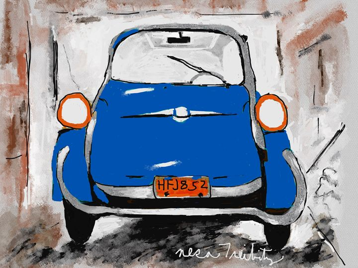 Blue Car - Nesa's Art