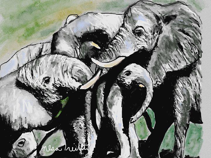 Majestic Elephants - Nesa's Art