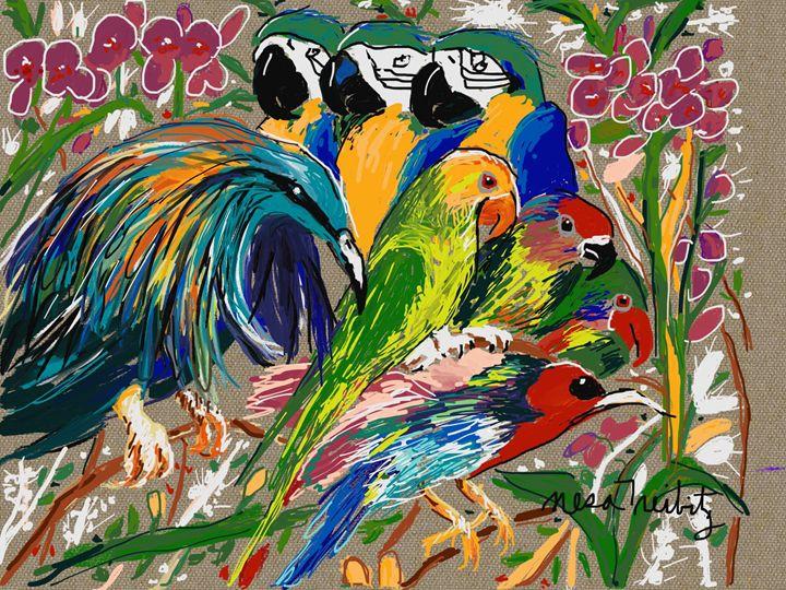 Beautiful Birds - Nesa's Art
