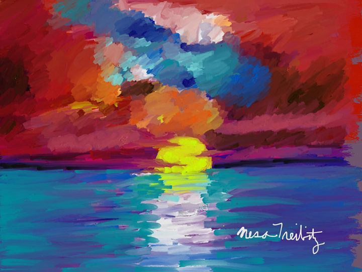 Colorful Sky - Nesa's Art