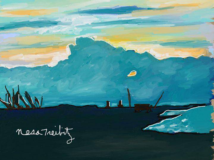 Blue Skies. - Nesa's Art