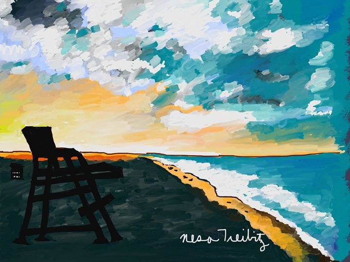 Lifeguard Chair - Nesa's Art